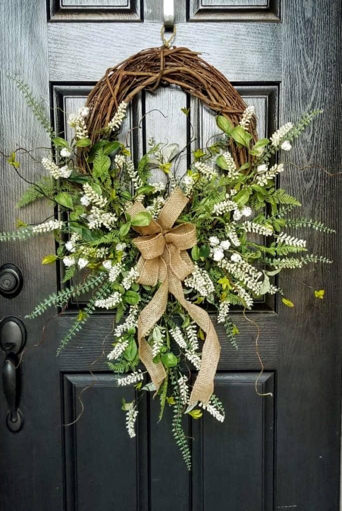 summer wreath, summer wreath ideas, summer wreath DIY, summer wreaths for front door, floral wreath, wreaths for front door, wreath ideas,, grapevine wreath