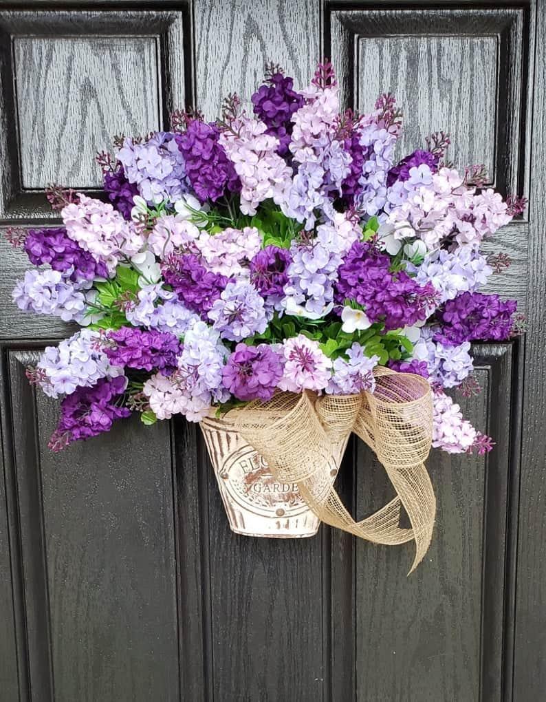 summer wreath, summer wreath ideas, summer wreath DIY, summer wreaths for front door, floral wreath, wreaths for front door, wreath ideas, lilac wreath, purple wreath