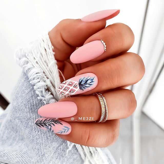 vacation nails, vacation nails acrylic, vacation nails simple, vacation nails 2021, beach nails, beachy nails, beach nails vacation, beach nail designs, pink nails, pineapple nails