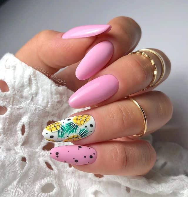 vacation nails, vacation nails acrylic, vacation nails simple, vacation nails 2021, beach nails, beachy nails, beach nails vacation, beach nail designs, pineapple nails, pink nails