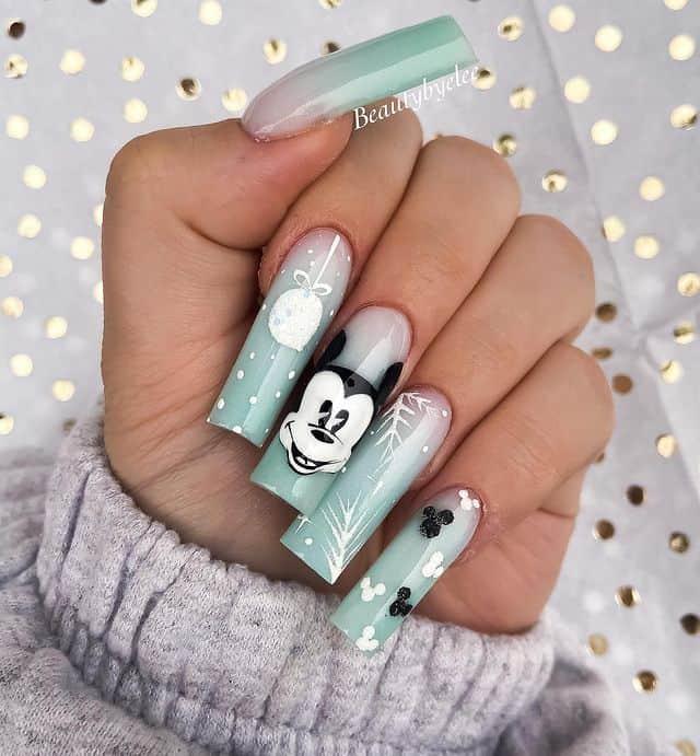 Disney Nails, disney nail designs, Disney Nails simple, disney nail art, Disney Nails acrylic, disney nail ideas, Disney Nails easy, Mickey Mouse nails, Mickey Mouse nail design, Mickey Mouse nail art