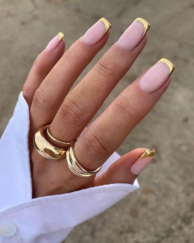 vacation nails, vacation nails acrylic, vacation nails simple, vacation nails 2021, beach nails, beachy nails, beach nails vacation, beach nail designs, French tip nails, gold nails