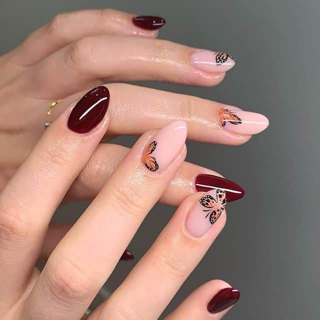 butterfly nails, butterfly nails acrylics, butterfly nails coffin, butterfly nail art, butterfly nail ideas, butterfly nail designs, neutral nails, rainbow butterfly nails, pink butterfly nails, pink nail art, summer nails, fall nails, fall nail art