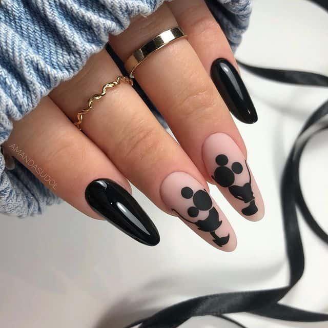 Disney Nails, disney nail designs, Disney Nails simple, disney nail art, Disney Nails acrylic, disney nail ideas, Disney Nails easy, Mickey Mouse nails, Mickey Mouse nail design