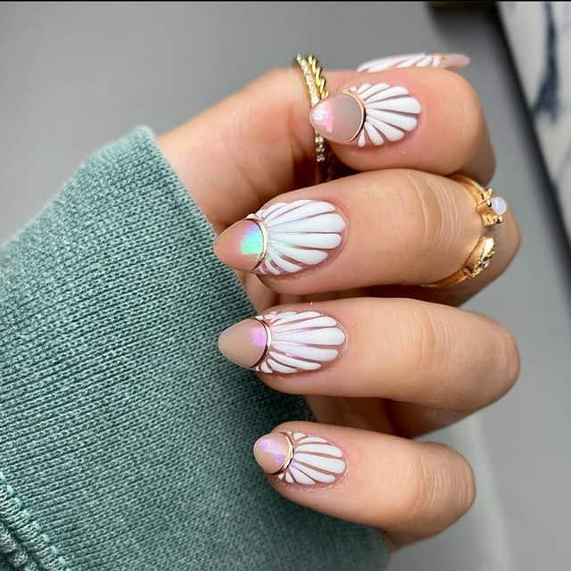 vacation nails, vacation nails acrylic, vacation nails simple, vacation nails 2021, beach nails, beachy nails, beach nails vacation, beach nail designs, shell nails, pearl nails