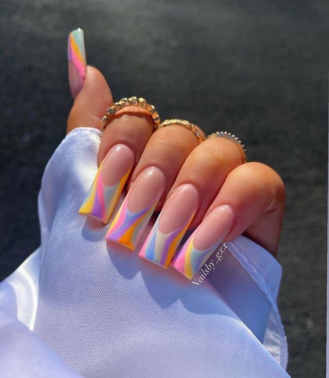 swirl nails, swirl nails acrylic, swirl nails 2021, swirl nails designs, swirl nails coffin, swirl nail art, swirl nail ideas, easy swirl nails, summer nails, summer nail art