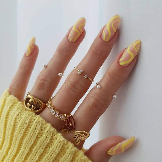vacation nails, vacation nails acrylic, vacation nails simple, vacation nails 2021, beach nails, beachy nails, beach nails vacation, beach nail designs, yellow nails, swirl nails, summer nails