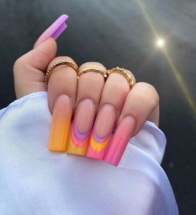 vacation nails, vacation nails acrylic, vacation nails simple, vacation nails 2021, beach nails, beachy nails, beach nails vacation, beach nail designs, ombre nails, bright nails