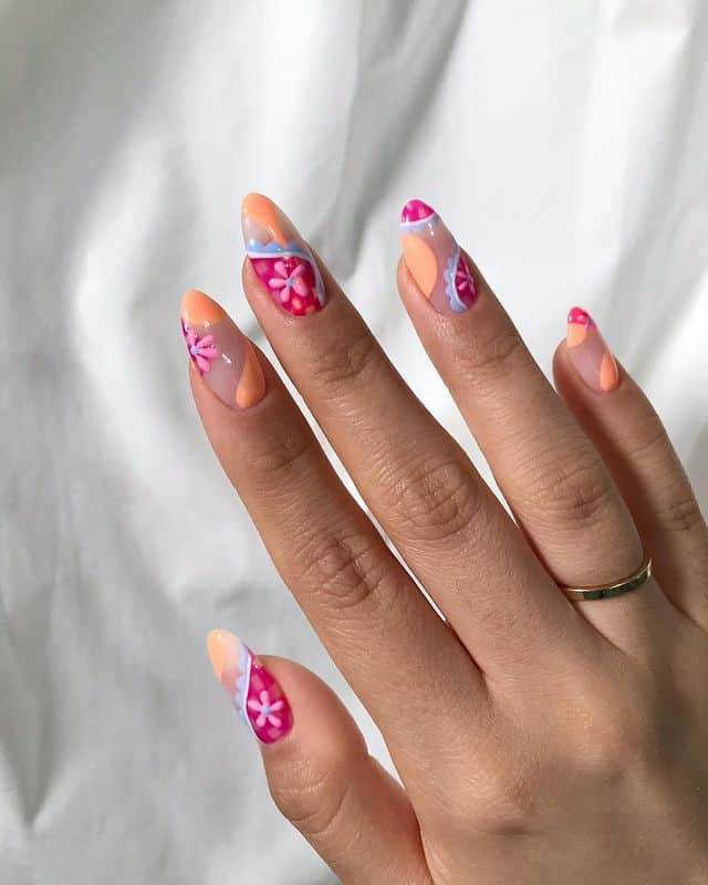 vacation nails, vacation nails acrylic, vacation nails simple, vacation nails 2021, beach nails, beachy nails, beach nails vacation, beach nail designs, bright nails, summer nails