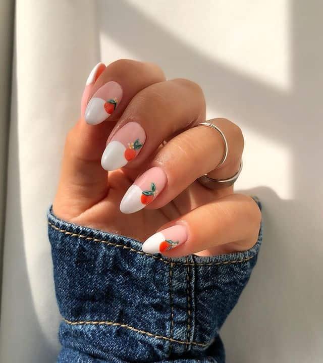 vacation nails, vacation nails acrylic, vacation nails simple, vacation nails 2021, beach nails, beachy nails, beach nails vacation, beach nail designs, orange nails, white tip nails