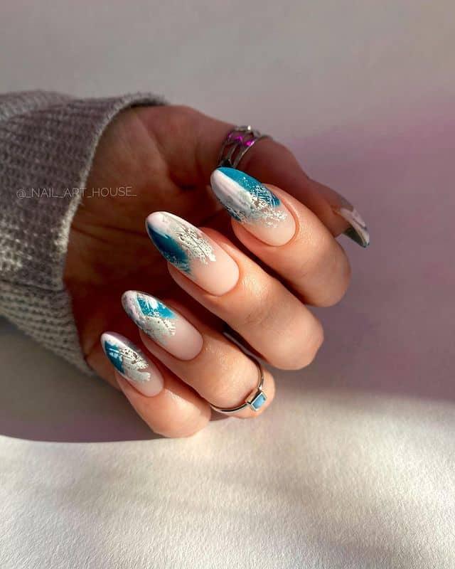 vacation nails, vacation nails acrylic, vacation nails simple, vacation nails 2021, beach nails, beachy nails, beach nails vacation, beach nail designs, abstract nails, blue nails
