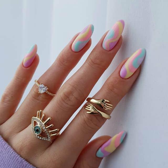 swirl nails, swirl nails acrylic, swirl nails 2021, swirl nails designs, swirl nails coffin, swirl nail art, swirl nail ideas, easy swirl nails, summer nails, summer nail art, pastel swirl nails