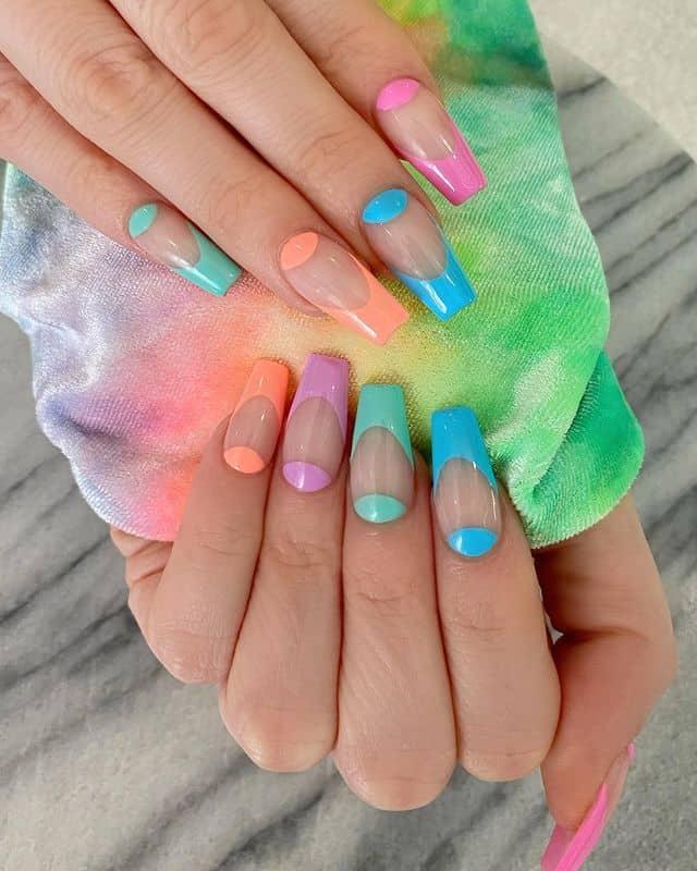 vacation nails, vacation nails acrylic, vacation nails simple, vacation nails 2021, beach nails, beachy nails, beach nails vacation, beach nail designs, rainbow nails, pastel nails