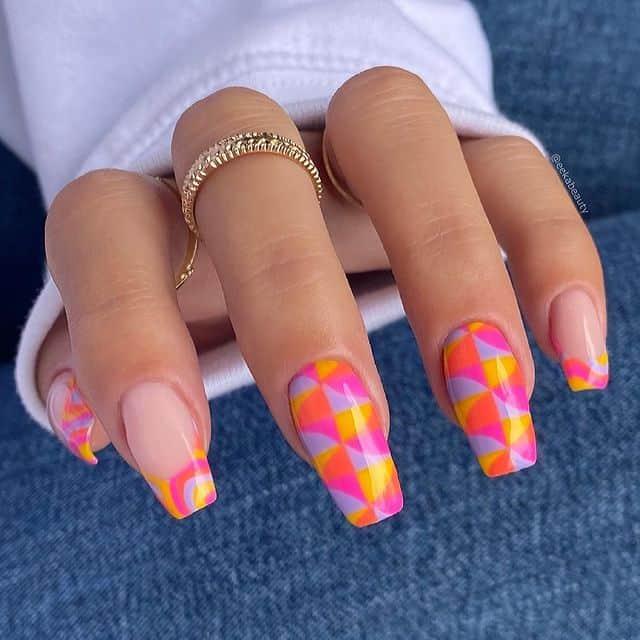vacation nails, vacation nails acrylic, vacation nails simple, vacation nails 2021, beach nails, beachy nails, beach nails vacation, beach nail designs, geometric nails