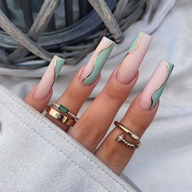 vacation nails, vacation nails acrylic, vacation nails simple, vacation nails 2021, beach nails, beachy nails, beach nails vacation, beach nail designs, green nails, aqua nails