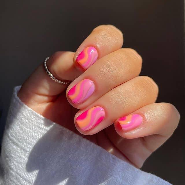 vacation nails, vacation nails acrylic, vacation nails simple, vacation nails 2021, beach nails, beachy nails, beach nails vacation, beach nail designs, swirl nails, pink nails