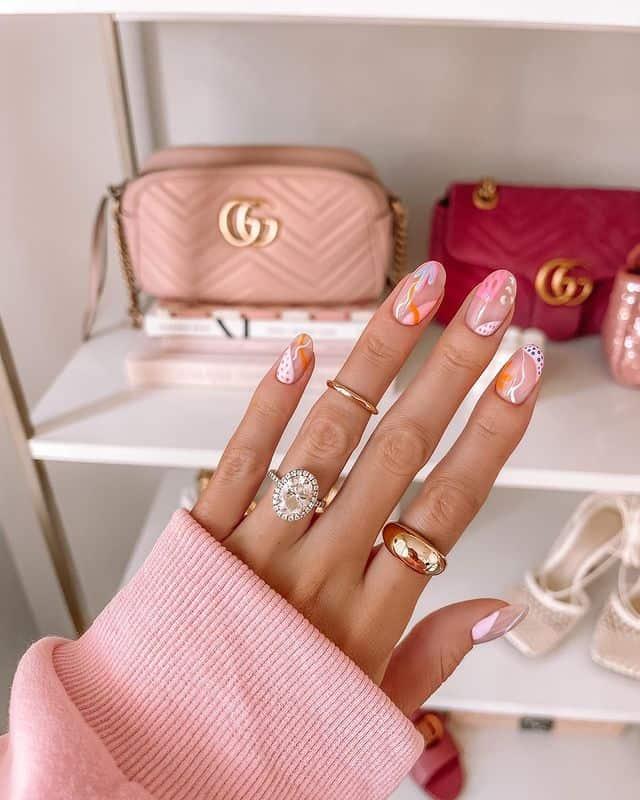 vacation nails, vacation nails acrylic, vacation nails simple, vacation nails 2021, beach nails, beachy nails, beach nails vacation, beach nail designs, pink nails, abstract nails