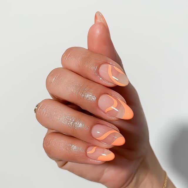 vacation nails, vacation nails acrylic, vacation nails simple, vacation nails 2021, beach nails, beachy nails, beach nails vacation, beach nail designs, swirl nails, orange nails