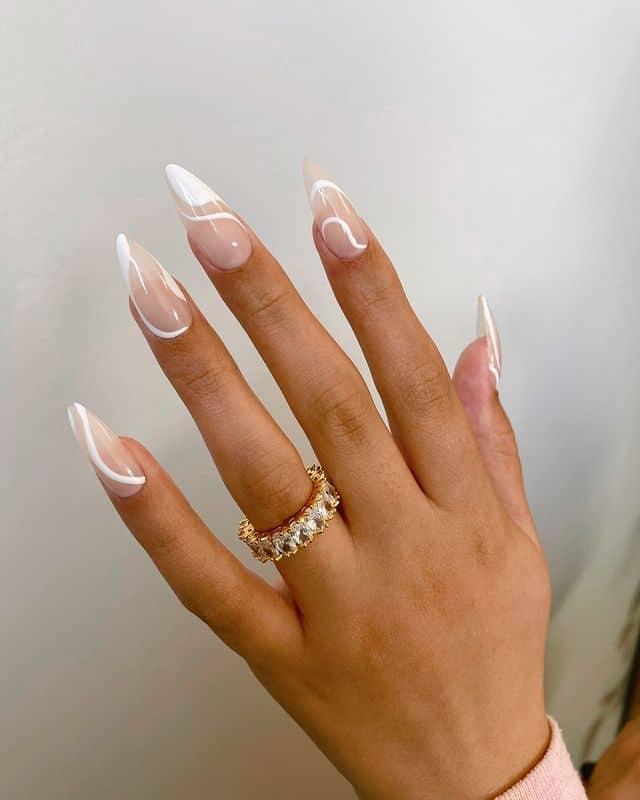 swirl nails, swirl nails acrylic, swirl nails 2021, swirl nails designs, swirl nails coffin, swirl nail art, swirl nail ideas, easy swirl nails, summer nails, summer nail art , white swirl nails