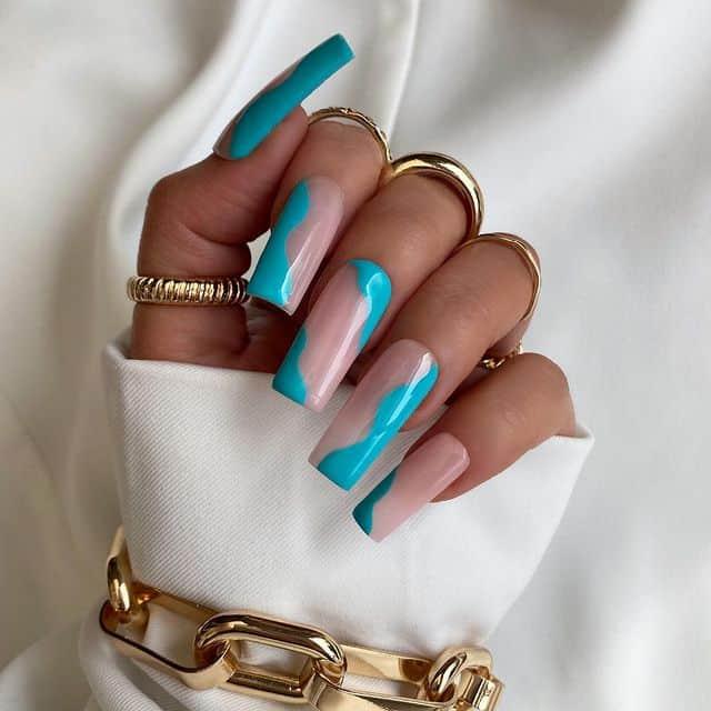 vacation nails, vacation nails acrylic, vacation nails simple, vacation nails 2021, beach nails, beachy nails, beach nails vacation, beach nail designs, blue nails, abstract nails