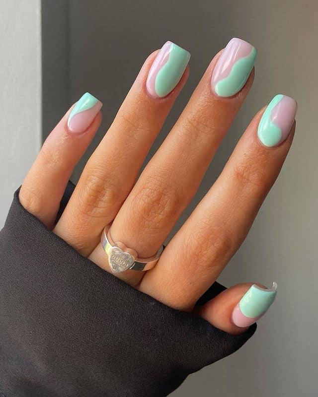 swirl nails, swirl nails acrylic, swirl nails 2021, swirl nails designs, swirl nails coffin, swirl nail art, swirl nail ideas, easy swirl nails, summer nails, summer nail art, swirl nails green, swirl nails aqua