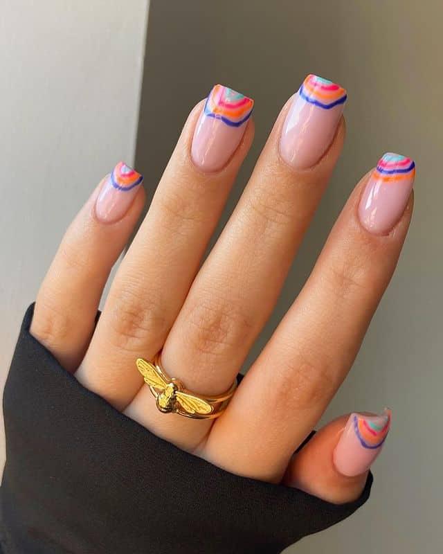 vacation nails, vacation nails acrylic, vacation nails simple, vacation nails 2021, beach nails, beachy nails, beach nails vacation, beach nail designs, tie dye nails
