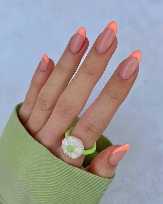 vacation nails, vacation nails acrylic, vacation nails simple, vacation nails 2021, beach nails, beachy nails, beach nails vacation, beach nail designs, French tip nails, orange nails