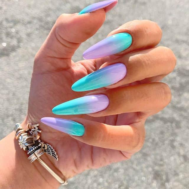 vacation nails, vacation nails acrylic, vacation nails simple, vacation nails 2021, beach nails, beachy nails, beach nails vacation, beach nail designs, ombre nails, blue nails, purple nails