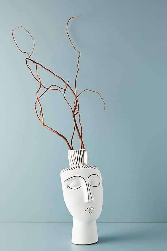 vase, vase decorating ideas, vases decor, vase filler ideas, DIY vase, flower vase, flower vases, ceramic vase, modern decor, face vase
