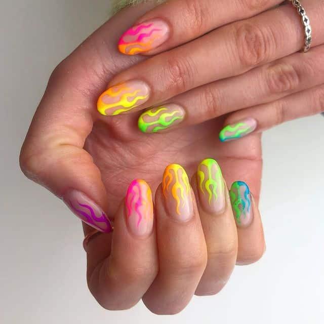 rainbow nails, rainbow nail art, rainbow nails acrylic, rainbow nails design, rainbow nail art designs, rainbow nail tips