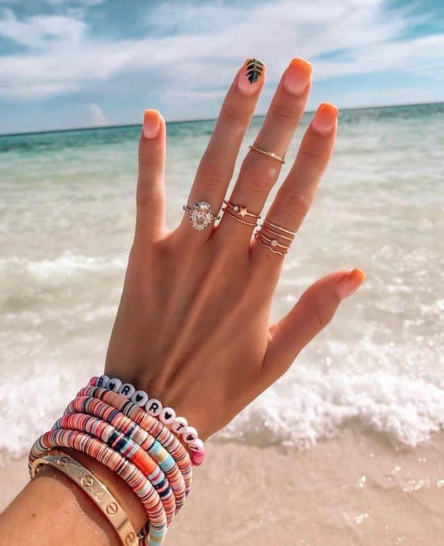 vacation nails, vacation nails acrylic, vacation nails simple, vacation nails 2021, beach nails, beachy nails, beach nails vacation, beach nail designs, palm print nails, pink nails