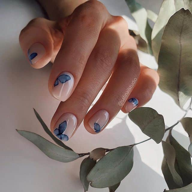 butterfly nails, butterfly nails acrylics, butterfly nails coffin, butterfly nail art, butterfly nail ideas, butterfly nail designs, neutral nails, rainbow butterfly nails, pink butterfly nails, pink nail art, summer nails, blue nails, blue butterfly nails