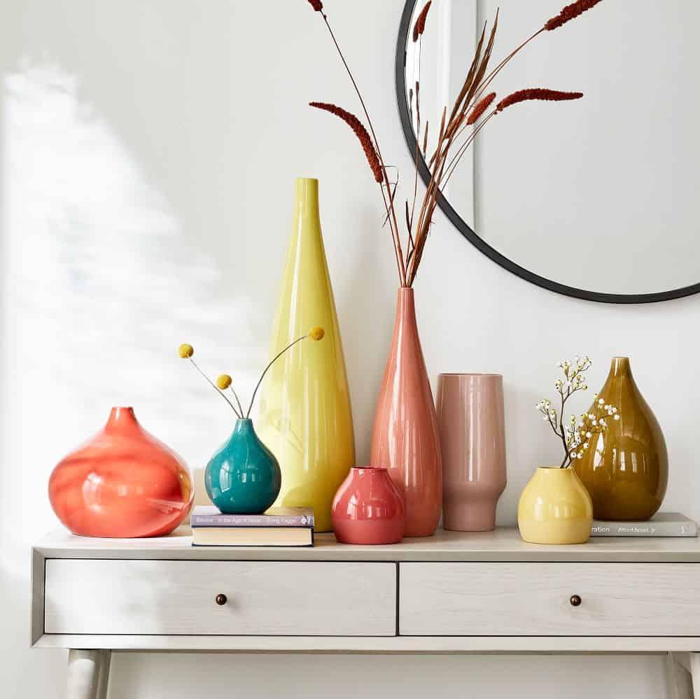 vase, vase decorating ideas, vases decor, vase filler ideas, DIY vase, flower vase, flower vases, ceramic vase, modern decor, colourful vase, bright vase
