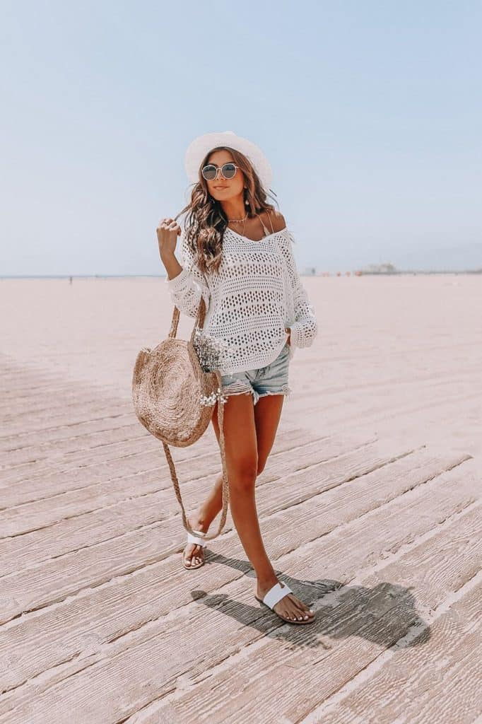 casual summer outfits, casual summer outfits for women, casual summer outfits for teens, summer outfits, summer outfits 2021, summer outfits aesthetic, crochet top, denim shorts outfit