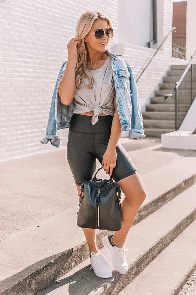 casual summer outfits, casual summer outfits for women, casual summer outfits for teens, summer outfits, summer outfits 2021, summer outfits aesthetic, athleisure outfit, biker shorts outfit