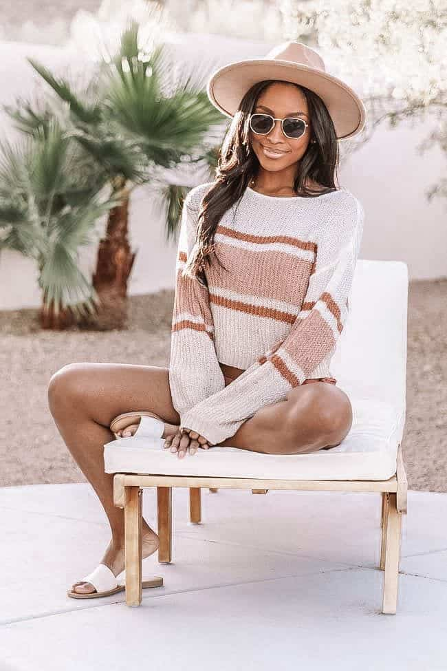 casual summer outfits, casual summer outfits for women, casual summer outfits for teens, summer outfits, summer outfits 2021, summer outfits aesthetic, striped sweater outfit