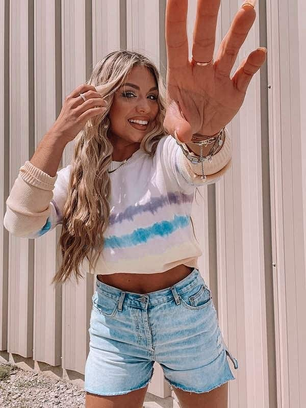casual summer outfits, casual summer outfits for women, casual summer outfits for teens, summer outfits, summer outfits 2021, summer outfits aesthetic, tie dye outfit, denim shorts outfit