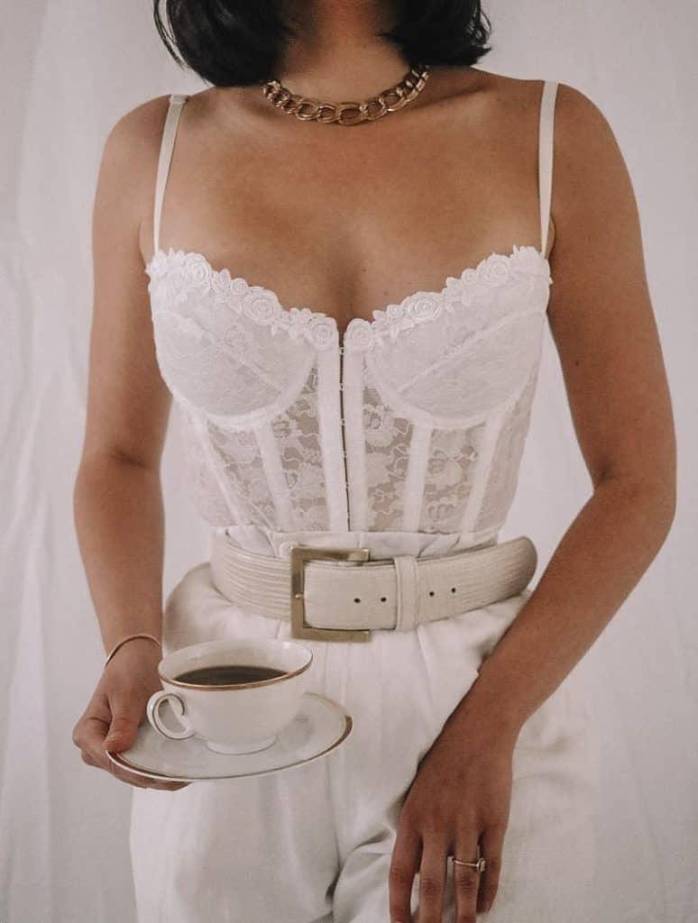 corset outfit, corset, corset top outfit, corset outfit aesthetic, corset top, corset outfit ideas, corset outfit street style, white lace corset, white corset
