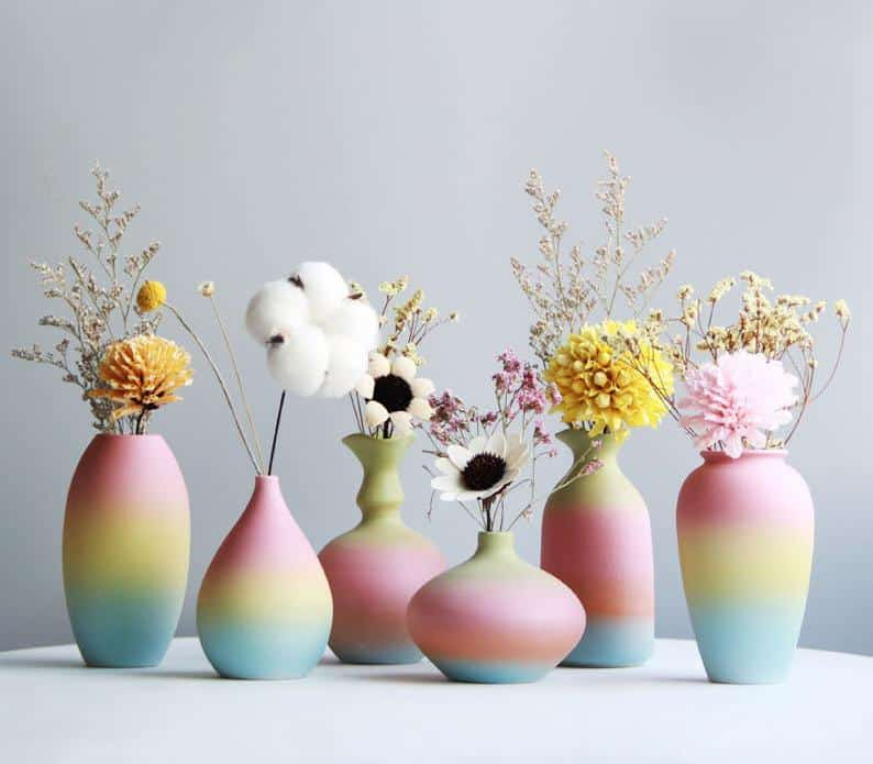 vase, vase decorating ideas, vases decor, vase filler ideas, DIY vase, flower vase, flower vases, ceramic vase, modern decor,, rainbow vase