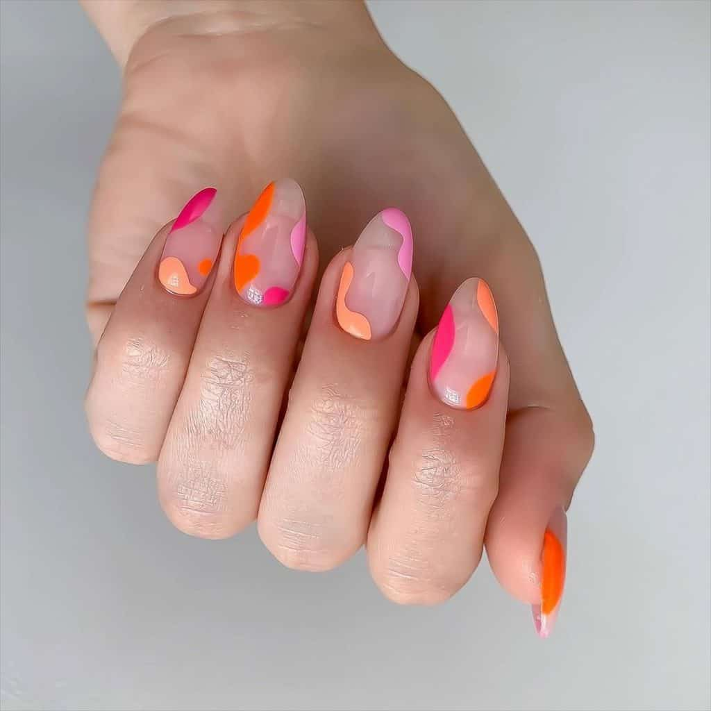 swirl nails, swirl nails acrylic, swirl nails 2021, swirl nails designs, swirl nails coffin, swirl nail art, swirl nail ideas, easy swirl nails, summer nails, summer nail art, swirl nails pink