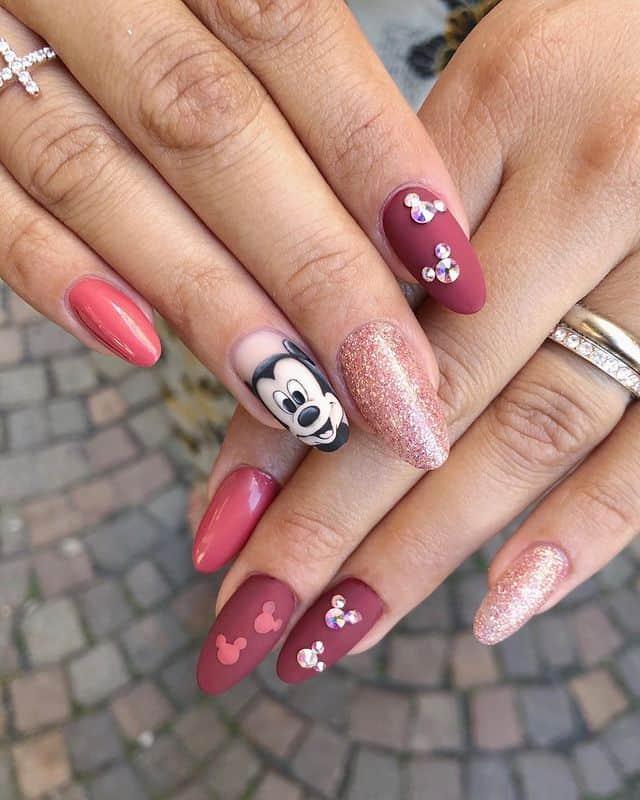 Disney Nails, disney nail designs, Disney Nails simple, disney nail art, Disney Nails acrylic, disney nail ideas, Disney Nails easy, Mickey Mouse nails, Mickey Mouse nail art, Mickey Mouse nail design