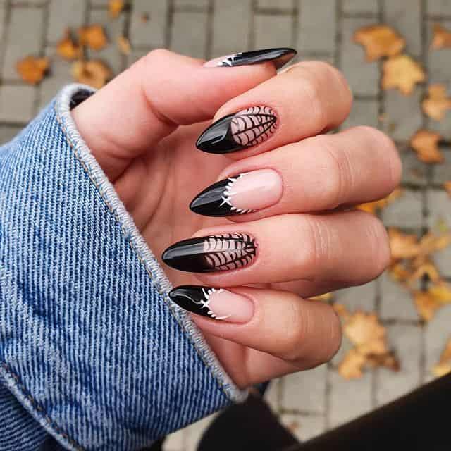 halloween nails, halloween nails acrylic, halloween nails ideas, halloween nails short, halloween nails simple, halloween nails easy, halloween nails 2021, halloween nails acrylic coffin, black nails, black nail art, spider nails