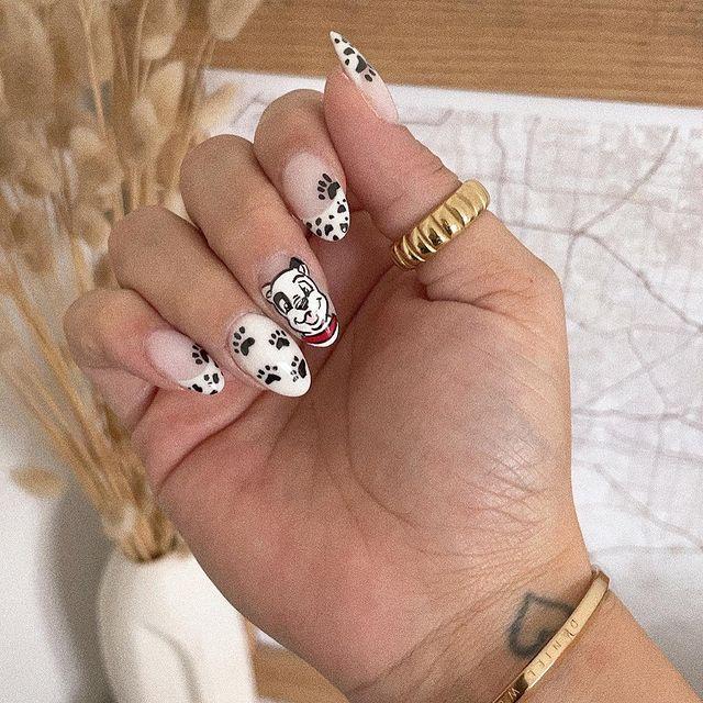 Disney Nails, disney nail designs, Disney Nails simple, disney nail art, Disney Nails acrylic, disney nail ideas, Disney Nails easy, dog nails, spotted nails