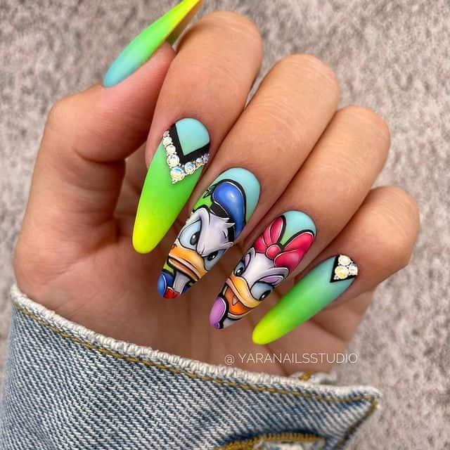 Disney Nails, disney nail designs, Disney Nails simple, disney nail art, Disney Nails acrylic, disney nail ideas, Disney Nails easy