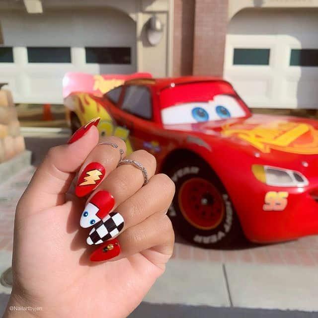 Disney Nails, disney nail designs, Disney Nails simple, disney nail art, Disney Nails acrylic, disney nail ideas, Disney Nails easy, cars nails