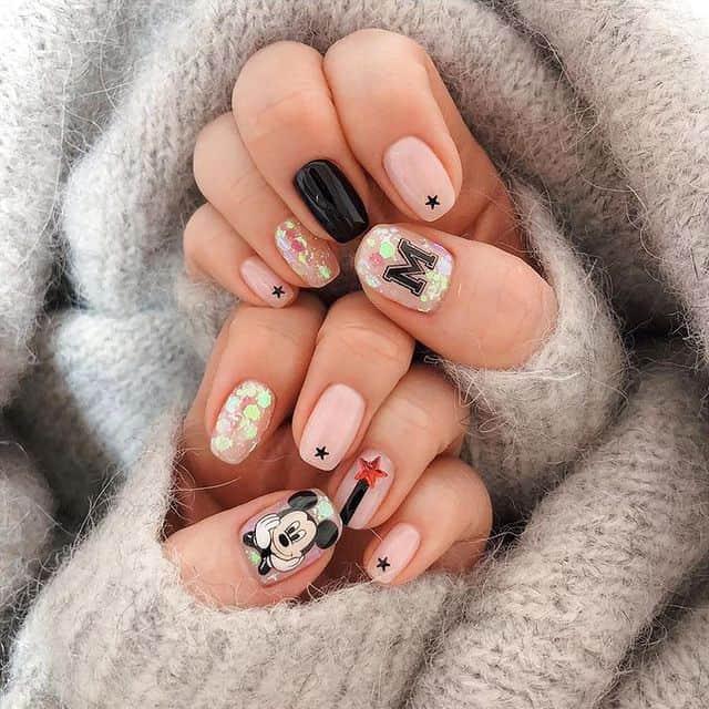 Disney Nails, disney nail designs, Disney Nails simple, disney nail art, Disney Nails acrylic, disney nail ideas, Disney Nails easy, Mickey Mouse nails