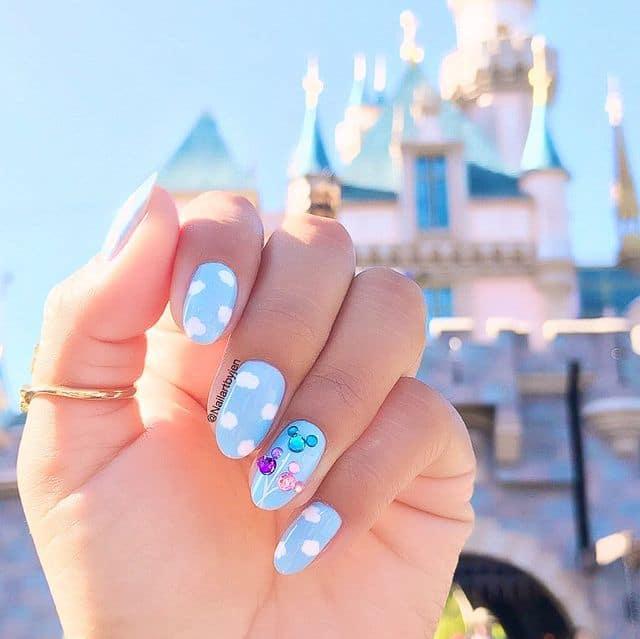 Disney Nails, disney nail designs, Disney Nails simple, disney nail art, Disney Nails acrylic, disney nail ideas, Disney Nails easy, blue nails