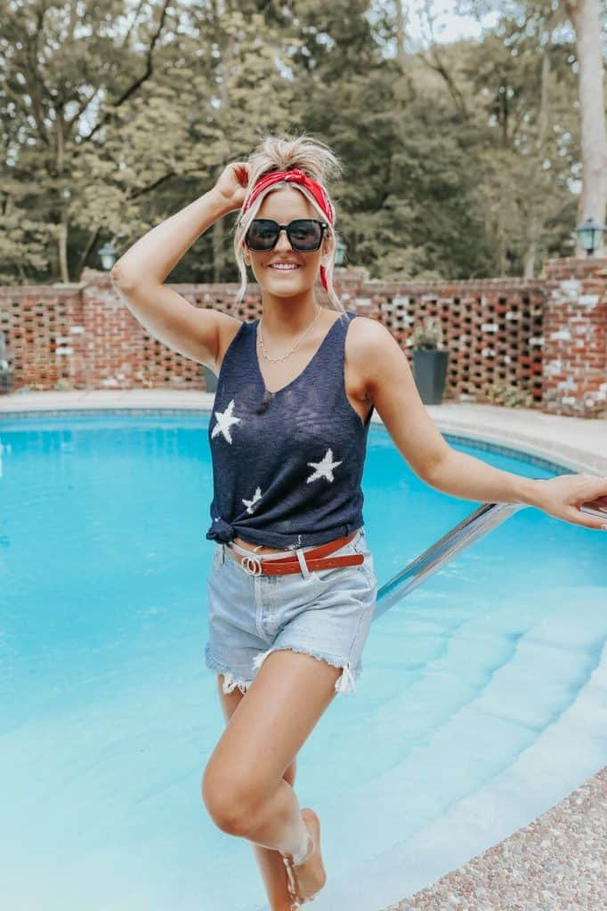 4th of July, 4th of July outfits for women, 4th of July outfits for women party, 4th of July outfits for teenagers, 4th of July outfits for women summer, 4th of July fashion, 4th of July looks, patriotic outfit, patriotic outfits for women, star top, star tank top