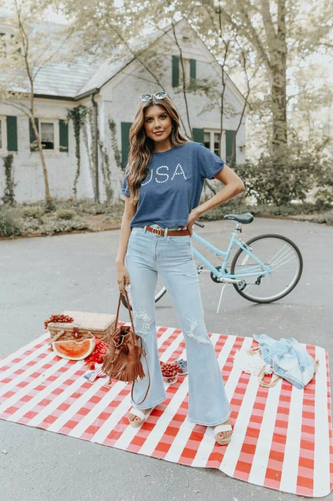 4th of July, 4th of July outfits for women, 4th of July outfits for women party, 4th of July outfits for teenagers, 4th of July outfits for women summer, 4th of July fashion, 4th of July looks, patriotic outfit, patriotic outfits for women, graphic tee outfit, use graphic tee
