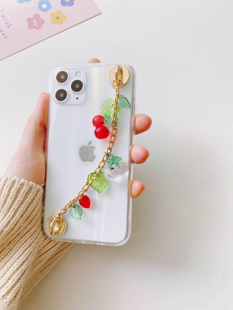 phone charm, phone charm DIY, phone charm aesthetic, phone charms beads, phone charm strap, phone charm ideas, 90s phone charm, YTK phone charm, phone chain, cherry phone charm